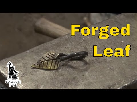 Blacksmith forged leaf for a key ring or pendant.