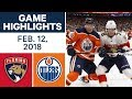 NHL Game Highlights | Panthers vs. Oilers - Feb. 12, 2018