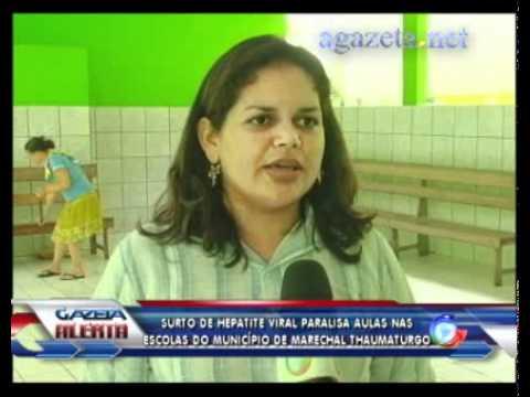Surto de hepatite viral paralisa aulas nas escolas de Marechal Thaumaturgo