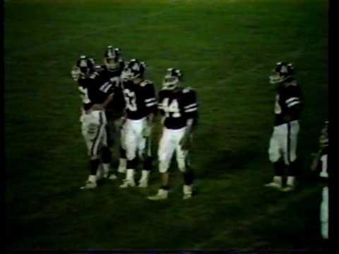 Natick High Football VS Walpole, 1984
