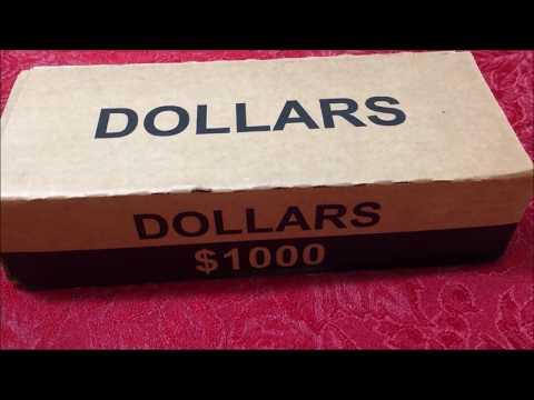 $1000 SMALL DOLLAR BOX COIN ROLL HUNT! ERRORS/VARIETIES. DOLLAR COINS WORTH MONEY!