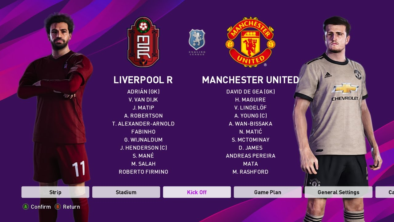PES 2020 | LIVERPOOL VS MANCHESTER UNITED | GAMEPLAY | 4-0 ...
