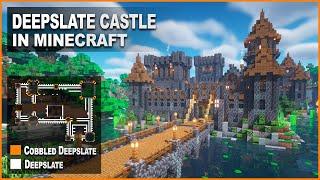 Minecraft How To Build A Deepslate Castle Tutorial 1.17