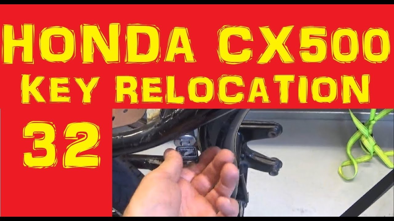 hight resolution of honda cx500 cafe racer key relocation episode 32