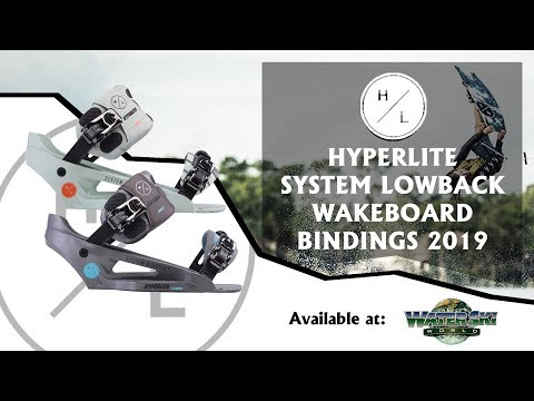 Hyperlite System Lowback Wakeboard Bindings 2019 - Available At Water Ski World