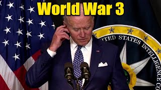 """Biden Slips Up """"We're Gonna End Up in a Shooting War"""" Russia WW3??"""
