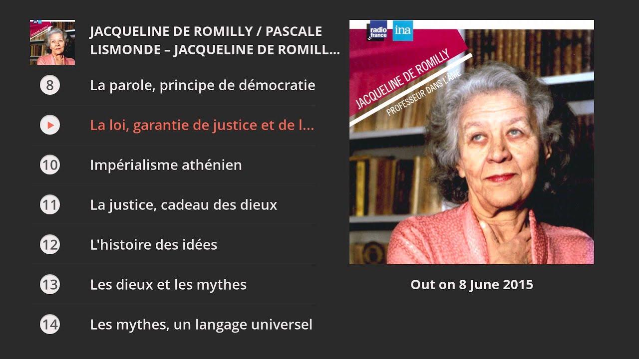 Jacqueline de romilly pascale lismonde jacqueline de romilly professeur - Bibliotheque jacqueline de romilly ...