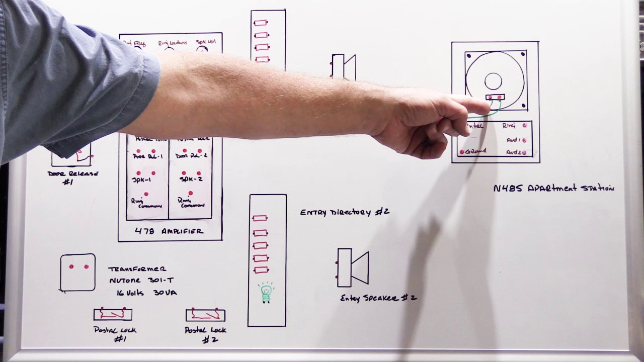 Wiring Diagram For Nutone Intercom Doorbell Systems The Fundamentals Of A 2 Entry 478 Apartment System Repair