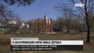 В Екатерининском парке новые деревья