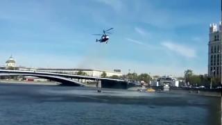 Тушение пожара в Москве на Лубянке