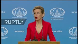 LIVE  Russian FM spokesperson Zakharova holds press briefing in Moscow