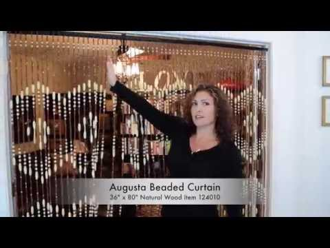 ShopWildThings - How to Hang Wood Beaded Curtains Next To Ea