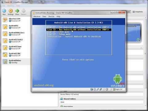 Installing Androidx86 Into VirtualBox