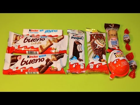 Kinder Chocolate Pingui Maxi King Happy Hippo Kinder Joy | Surprise Eggs Compilation
