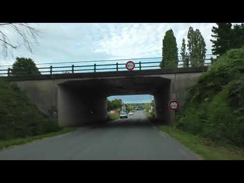 Driving On The D787A & D787 Locménard 22200 Grâces To 22200 Guingamp, Brittany, France