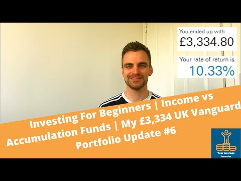 Investing For Beginners | Income vs Accumulation Funds | My £3,334 UK Vanguard Portfolio Update #6
