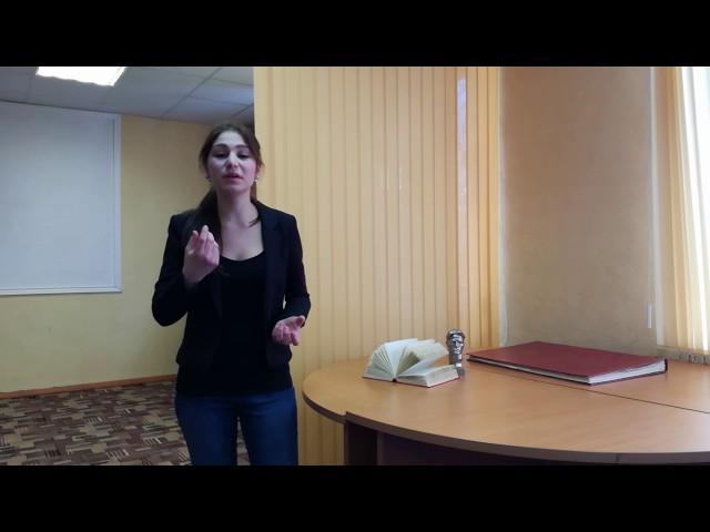 Изображение предпросмотра прочтения – ОльгаМадфес читает отрывок изпроизведения «Сергею Есенину» В.В.Маяковского