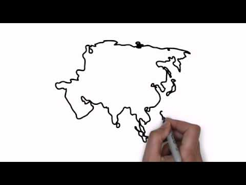 How To Draw Map Of Asia YouTube - Simple map of asia for kids