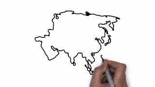 How To Draw Map Of Asia