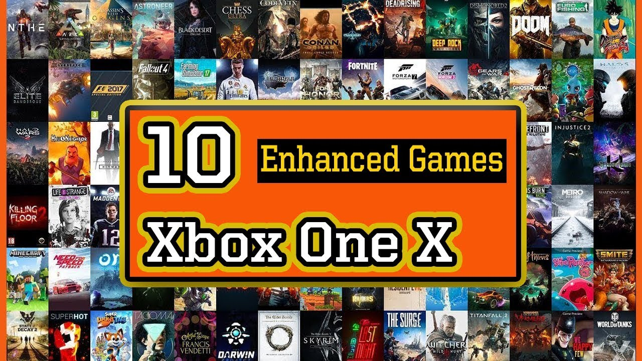 10 Best Xbox One X Enhanced Games You Should Play First On