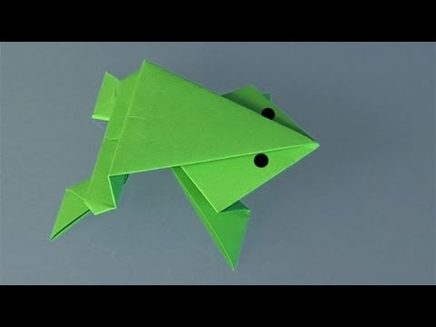une grenouille en papier comment faire origami youtube. Black Bedroom Furniture Sets. Home Design Ideas
