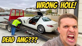 THIS CAN'T BE HAPPENING! My Mercedes SLS AMG Got The Wrong Fluid In The Wrong Place???