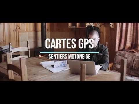 Sentiers routables de motoneige pour GPS de TrakMaps