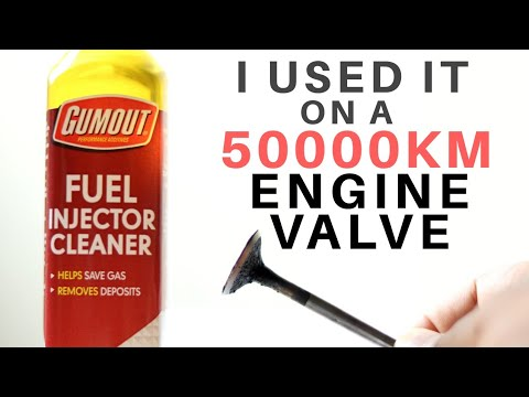 GUMOUT FUEL SYSTEM CLEANER TEST ON 50000KM ENGINE VALVE, PEA FUEL ADDITIVE TO CLEAN ENGINE DEPOSITS