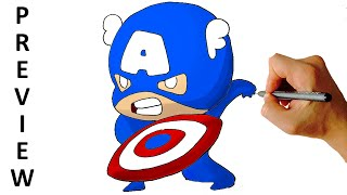 marvel captain draw chibi characters america drawing war civil cartoon easy step facedrawer getdrawings clipartmag