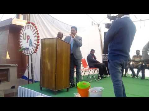 Sobha yatra at jalandhar giving getting PCC present Rashpal singh Simak