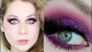 Urban Decay Pop Queen Editorial Glittery Purple VDAY Makeup Tutorial 2021 | Lillee Jean