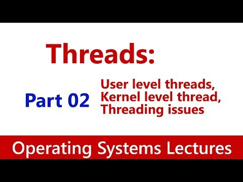 Operating System #34 Threads: User level & Kernel level thread, Threading issues