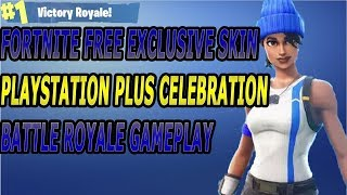 Free Fortnite Skin Playstation Only Fortnite battle royale squad gameplay