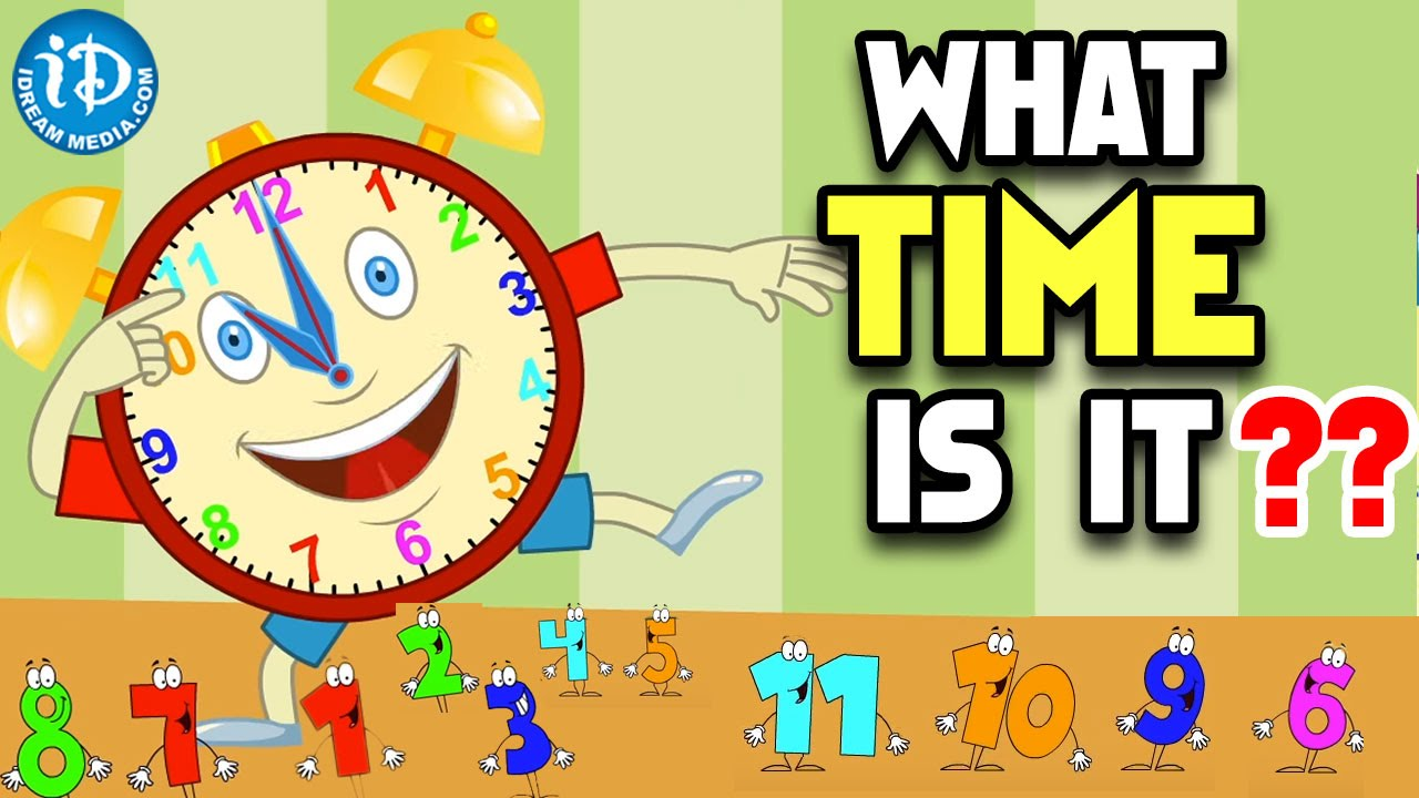 worksheet Learning To Tell Time what time is it learning to tell for kids nursery rhymes telling children youtube