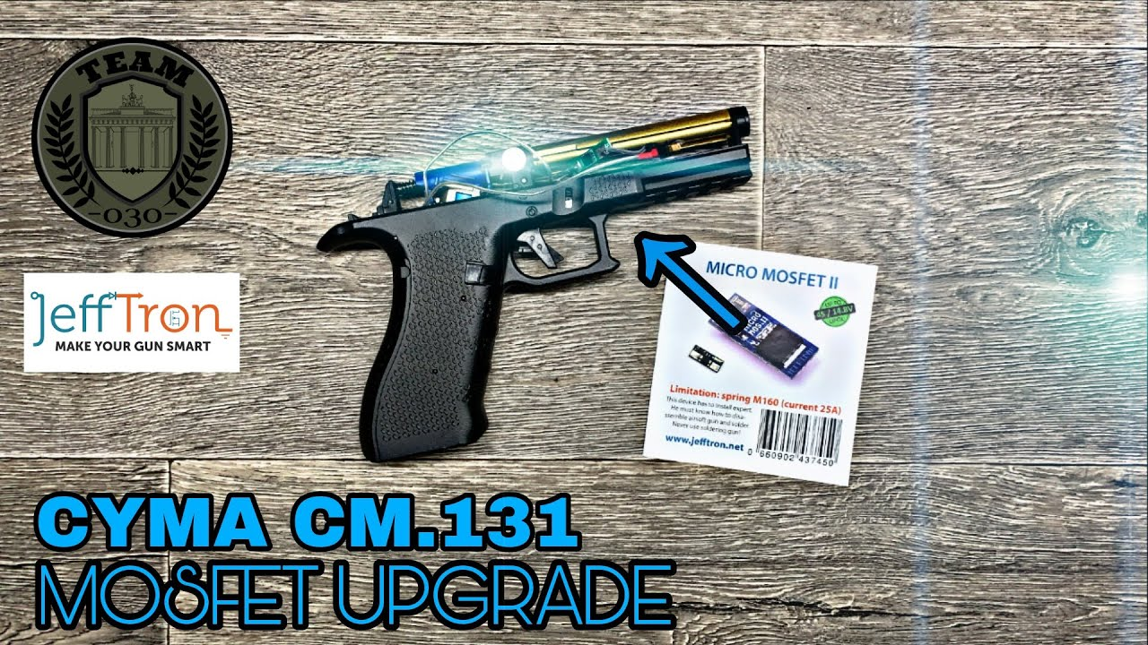 [TECH] CYMA CM.131 G18 AEP Umbau -  Mosfet Upgrade JeffTron Micro II TEAM-030-AIRSOFT