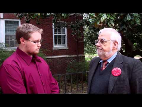 UTM SMACS president Corey Jones interviews ACCM keynote speaker Dr. Jerry Bell