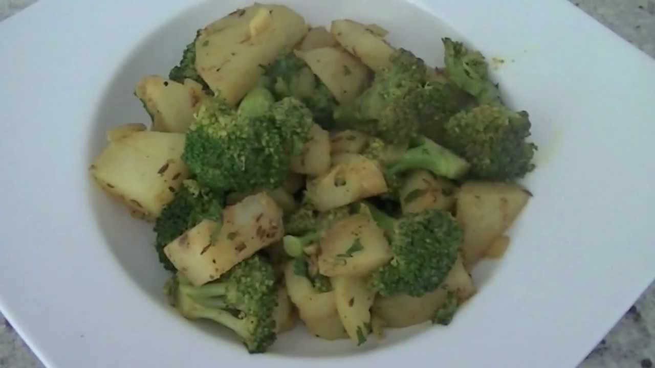 Potato Broccoli Masala Recipe Indian Vegetarian Recipe Youtube