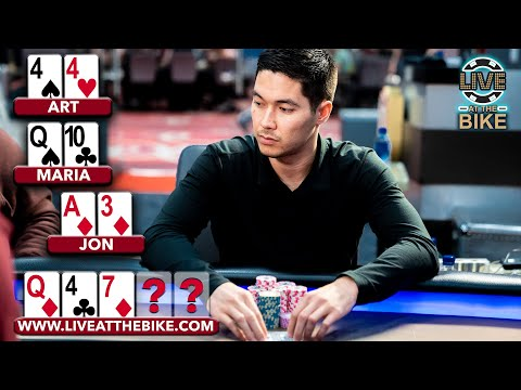 When The PERFECT Turn Card Hits! ♠ High Stakes Highlights From Live At The Bike!