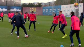 Fc barcelona training session: post-derby recovery session