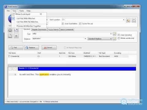 TextCrawler video tutorial