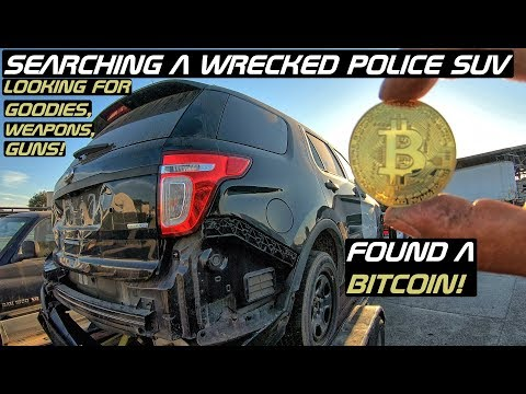 Searching A Wrecked Police Explorer SUV Found Bitcoin!