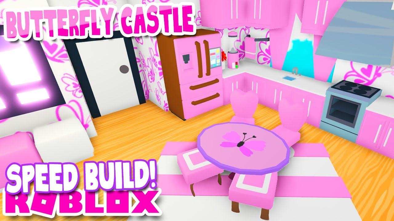 🦋Pink Butterfly🦋 Castle SPEED BUILD in Adopt Me Roblox Home House