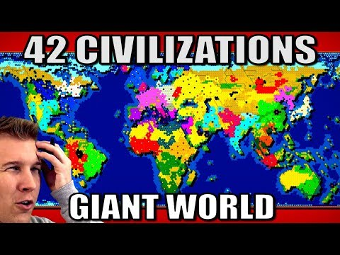 All 42 Nations Battle on a Giant World Map! (Civ 6 Gathering Storm)