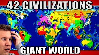 All 42 Nations Battle On A Giant World Map!  Civ 6 Gathering Storm
