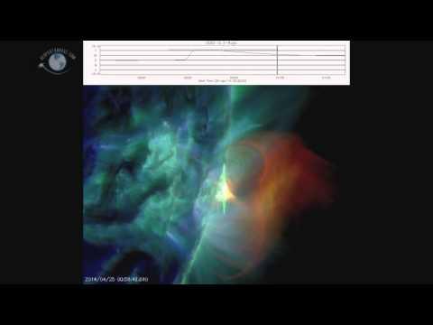ERUPCIÓN SOLAR X1.3 INTERRUMPE COMUNICACIONES DE RADIO 25-04-2014
