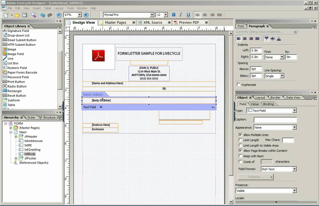 Form Flow In Adobe Livecycle Designer Youtube