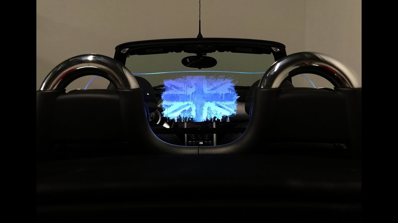New MINI Cooper Lighted Wind Deflector MUST SEE Accessories! - YouTube