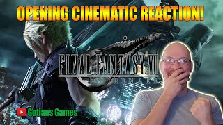 Final Fantasy 7 Remake Opening Cinematic Reaction! I Cannot Wait For This Game!
