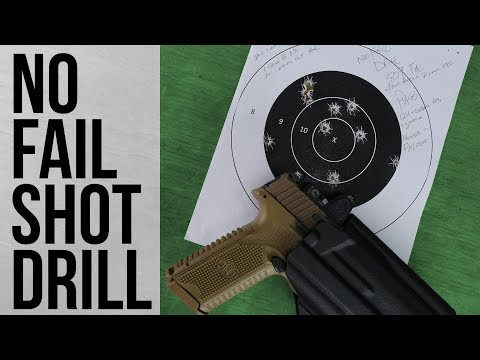 No Fail Shot Drill From Presscheck Training Using The FN 509 Tactical