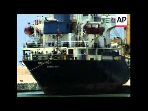 Libyan aid ship docks after being prevented from reaching Gaza